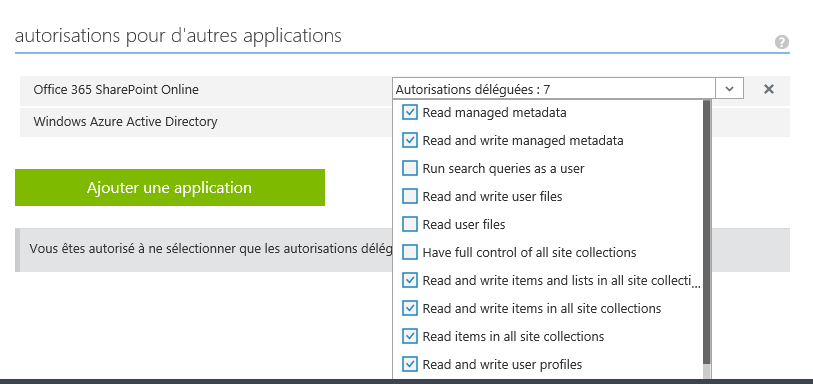 Manipuler l'API REST Sharepoint 2013 depuis une application