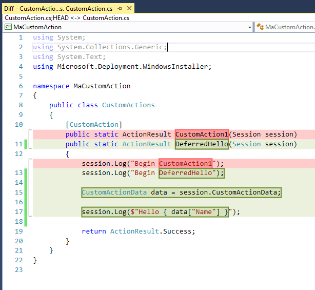 Custom Action WiX en C# : Introduction - Infinite Blogs