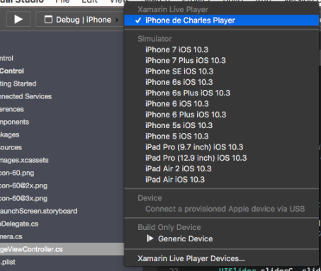 Xamarin Live Player - Choose device.png