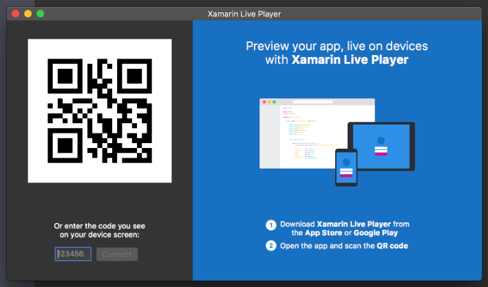Xamarin Live Player - registeration.png