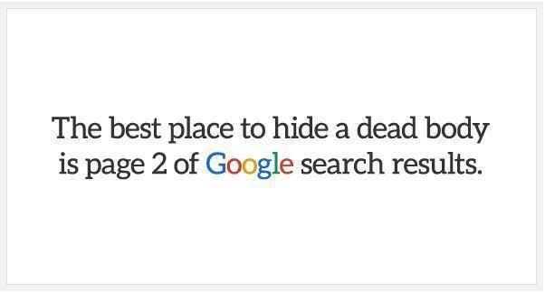 pour être visible sur google il faut être en SERP 1